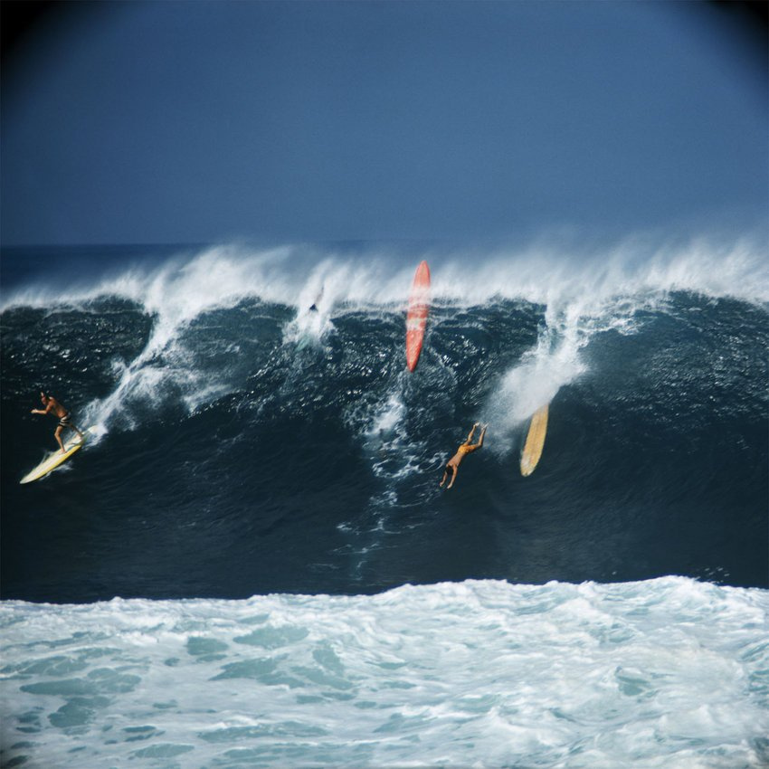 Waimea Bay 1966 by Leroy Grannis
